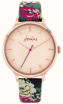 Joules '30th Anniversary' | Floral Leather Strap | Rose Dial | JSL028UPRG
