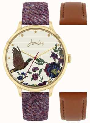 Joules Women's Interchangeable Berry Tweed Strap | Pheasant Dial | JSL002TGG G