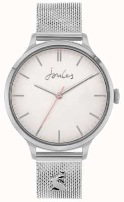 Joules Ryton | Stainless Steel Silver Mesh Bracelet | Silver Dial | JSL026SM