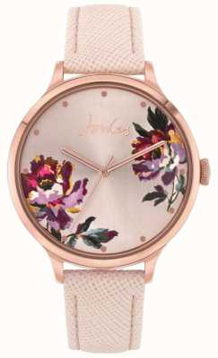 Joules | Women's Tillbury | Nude Leather Strap | Floral Dial | JSL021PRG