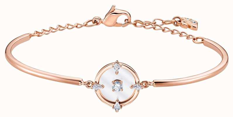 Swarovski North | Rose Gold Plated Bangle | White | M 5495771