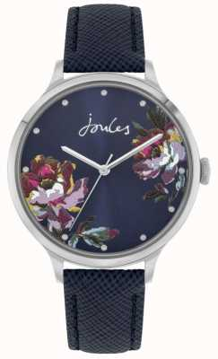 Joules Women's Payton | Blue Leather Strap | Blue Floral Dial | JSL021U