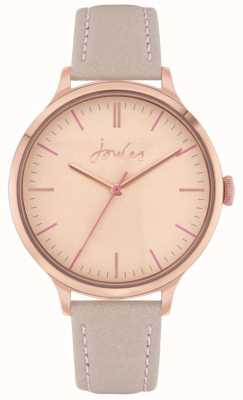 Joules | Women's Harthorpe | Nude Leather Strap | Rose Dial | JSL022ERG