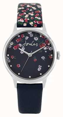 Joules | Women's Fieldside | Blue Silicone Strap | Blue Floral Dial JSL023US