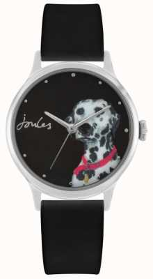 Joules Women's Black Silicone Strap | Dalmation Print Dial | JSL010BS