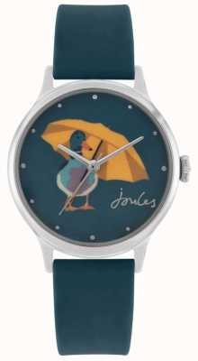 Joules Women's Teal Silicone Strap | Duck Print Dial | JSL010AU