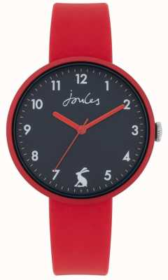 Joules Coast | Red Silicone Strap | Navy Dial | JSL020R