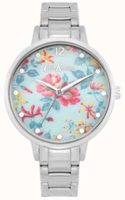 Cath Kidston Pembroke Rose | Stainless Steel Bracelet | Blue Floral Dial CKL084SM