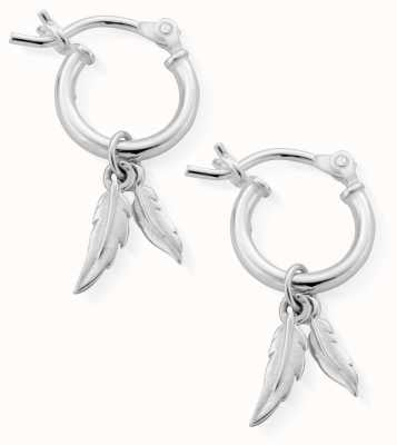 ChloBo | Women's Double Feather | Small Hoop Earrings | SEH584