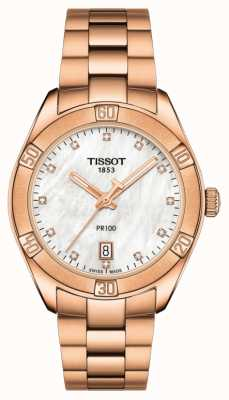 Tissot | PR 100 Sport Chic | Rose Gold Bracelet | Mother Of Pearl T1019103311600