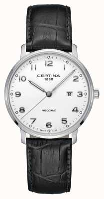 Certina | DS Caimano | Alligator Leather Strap | White Dial | C0354101601200