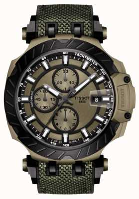 Tissot | T-Race | Automatic Chronograph | Green Rubber Strap | T1154273709100