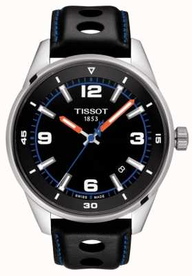 Tissot | Alpine | Black Leather Strap | Black Dial | T1236101605700