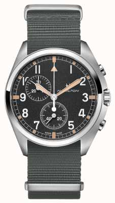 Hamilton Khaki Aviation Pilot Pioneer | Grey Nato Strap | Black Dial H76522931