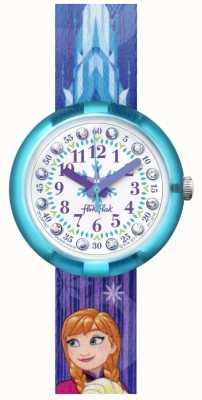 Flik Flak | Disney Frozen Elsa & Anna | Blue Print Fabric Strap | FLNP027