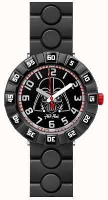 Flik Flak | Star Wars Darth Vader | Black Rubber Strap | Black Dial FFLP005
