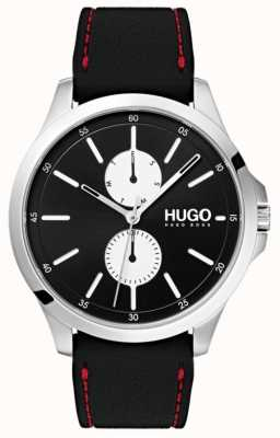 HUGO #JUMP | Black Rubber Strap | Black Dial | 1530001