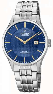 Festina | Men's Swiss Made | Stainless Steel Bracelet | Blue Dial | F20005/3
