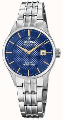 Festina | Women's Swiss Made | Stainless Steel Bracelet | Blue Dial F20006/3