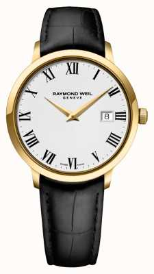 Raymond Weil Mens | Toccata | Black Leather Strap | White Dial 5488-PC-00300