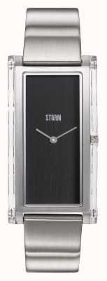STORM | Plexia Black | Stainless Steel Bracelet | Black Dial | 47450/BK