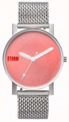 STORM | New Blast V2 Mesh Red | Silver Mesh Bracelet | Red Dial | 47457/R