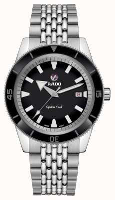 RADO XL 'Captain Cook'  Stainless Steel Bracelet Black Dial R32505153