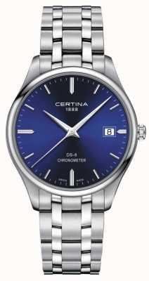 Certina DS-8 Chronometer | Stainless Steel Bracelet | Blue Dial | C0334511104100