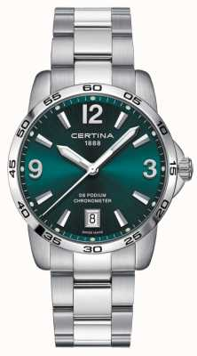 Certina DS Podium 40mm | Stainless Steel Bracelet | Green Dial | C0344511109700