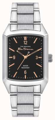 Ben Sherman Mens | Stainless Steel | Black Dial BS013ESM