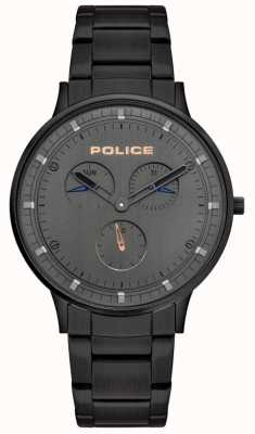 Police | Men's Berkeley | Black Steel Bracelet | Grey Dial | 15968JSB/39M