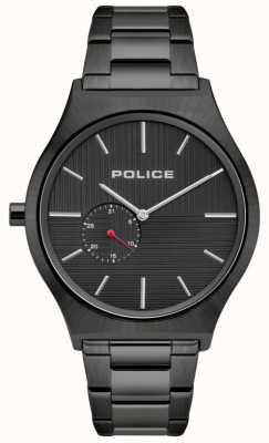 Police | Men's Orkneys | Black Stainless Steel Bracelet |Black Dial 15965JSU/02M