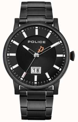 Police | Men's Collin | Black Stainless Steel Bracelet | Black Dial 15404JSB/02M