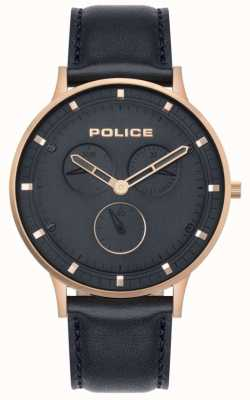 Police | Men's Berkeley | Dark Blue Leather | Blue Dial 15968JSR/03