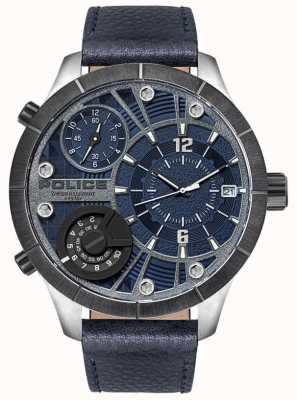 Police | Men's Bushmaster | Blue Leather Strap | Blue Dial | 15662XSTU/03