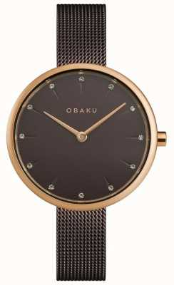 Obaku | Women's Notat Walnut | Brown Mesh Bracelet | Brown Dial | V233LXVNMN