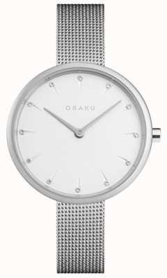 Obaku | Women's Notat Steel | Silver Mesh Bracelet | White Dial | V233LXCIMC