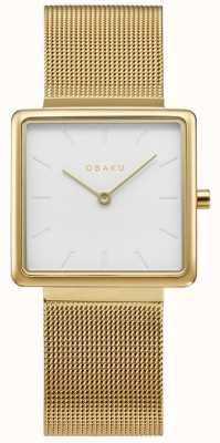 Obaku | Women's Kvadrat Gold | Gold Mesh Bracelet | White Dial | V236LXGIMG