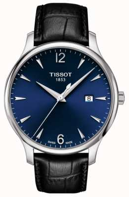 Tissot | Men's Tradition | Black Leather Strap | Blue Dial | T0636101604700