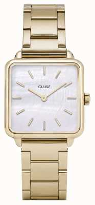 CLUSE | La Tétragone | Three Link Gold Bracelet | Mother Of Pearl CL60026S