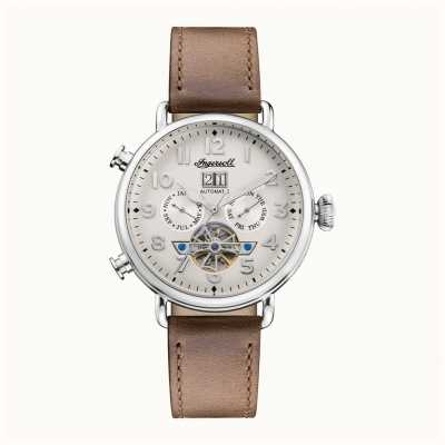 Ingersoll | The Muse Automatic | Brown Leather Strap | White Dial I09502