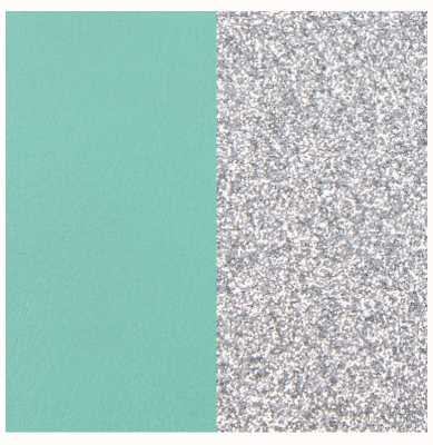 Les Georgettes 25mm Leather Insert | Aqua/Silver Glitter 702755199CX000