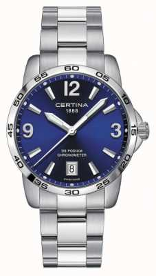 Certina Mens DS Podium | Chronomer | 40mm | Blue Dial | C0344511104700