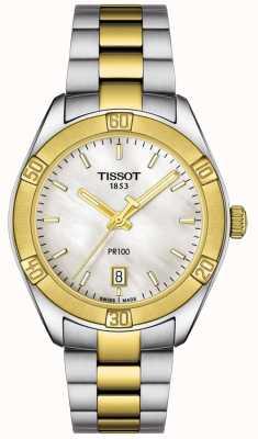 Tissot | Womens PR100 Sport Chic | Two Tone Bracelet | T1019102211100
