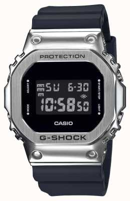 Casio G-Shock Metal Bezel Series | Black Resin Strap | Digital GM-5600-1ER