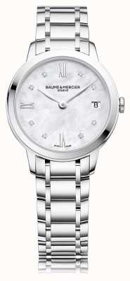 Baume & Mercier Classima Diamond | Stainless Steel Bracelet | Mother Of Peal BM0A10326