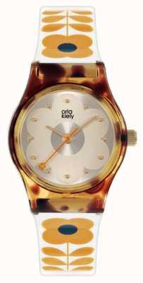 Orla Kiely Baby Bobby | Tortoise Shell Case | Cream Plastic Strap OK2330
