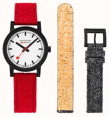 Mondaine | Essence Set | 32mm | Red PET Felt Strap Set | MS1.32110.LC.SET