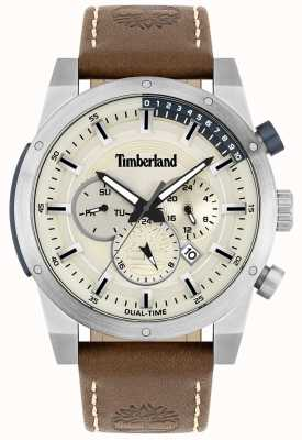 Timberland Outdoor Seeker | Brown Leather Strap | Silver Dial | 15951JS/04
