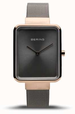 Bering Women's Classic | Polished Grey Mesh | Grey Dial 14528-369